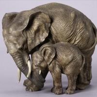Elefante asiatico ceramica cacciapuoti
